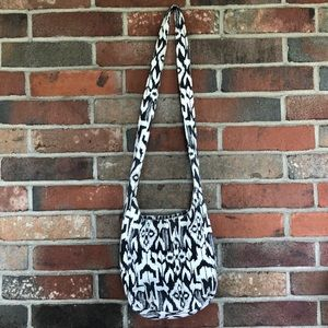 Taupe and ivory Cross body satchel